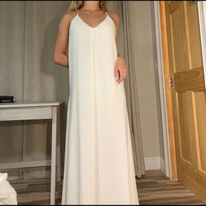Gorgeous white Gianni Bini maxi dress